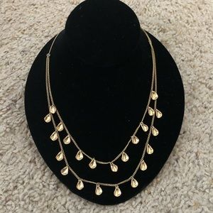 Double-Strand Gold Leaf Necklace